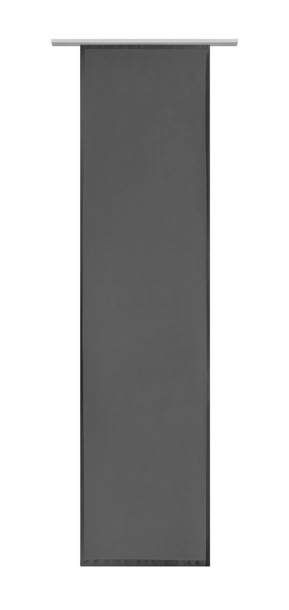 Flächenvorhang Vicky in Schwarz, ca. 60x245cm - Schwarz, Textil (60/245cm) - MÖMAX modern living