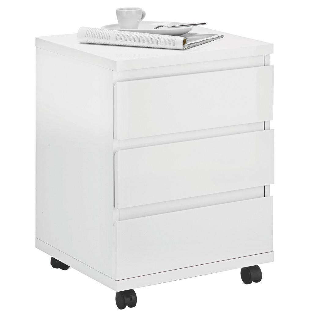 rollcontainer in wei hochglanz haustechnik thiel. Black Bedroom Furniture Sets. Home Design Ideas