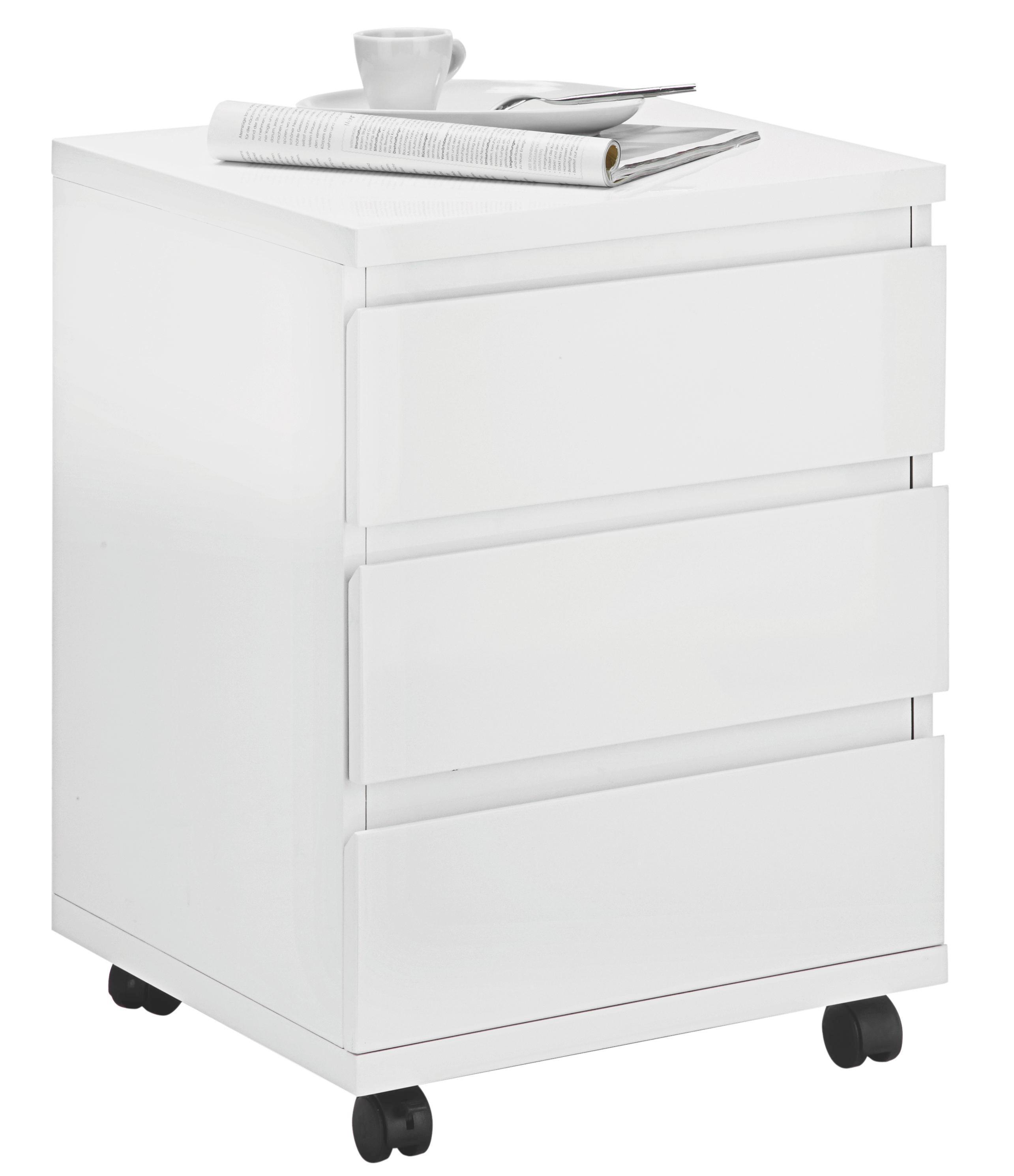 Rollcontainer weiß günstig  Rollcontainer in Weiß Hochglanz online kaufen ➤ mömax