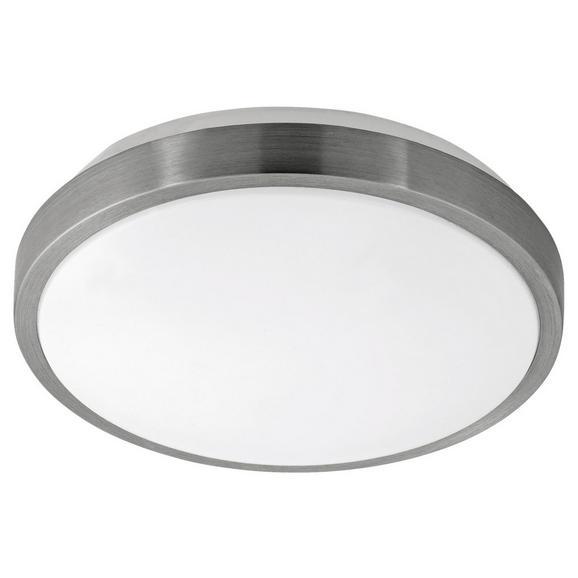 Deckenleuchte Competa 1 mit LED - Weiß/Nickelfarben, MODERN, Kunststoff/Metall (24,5/5,5cm)