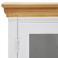 Kredenz Brigitte - Weiß/Pinienfarben, MODERN, Glas/Holz (131/192/44cm) - Modern Living