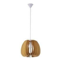 Hängeleuchte max. 40 Watt 'Simona' - Beige/Naturfarben, MODERN, Holz (37/140cm) - Bessagi Home