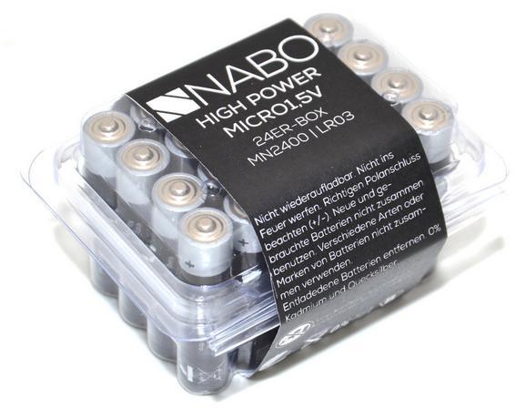 Batterie Nabo 1,5 Volt 24er Box - (8/4,5/6cm)