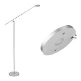 LED-Stehleuchte max. 5 Watt 'Pedro' - Chromfarben/Silberfarben, MODERN, Kunststoff/Metall (53/23/150cm) - Bessagi Home