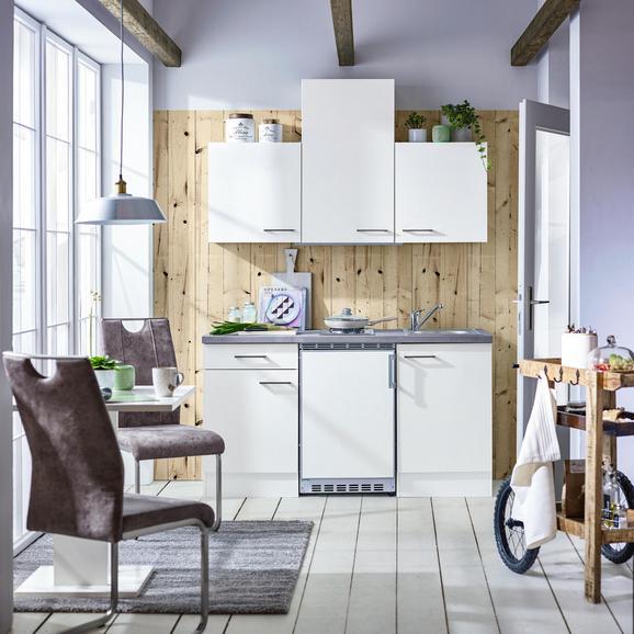 Küchenblock Neo in Weiß - Weiß, MODERN, Holzwerkstoff (150cm) - FlexWell.ai