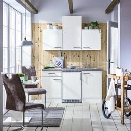 Küchenblock Neo in Weiß - Weiß, MODERN, Holzwerkstoff (150cm)