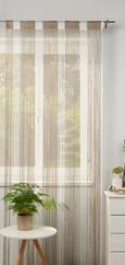 Fadenstore String, ca. 90x245cm - Braun/Weiß, Textil (90/245cm) - premium living
