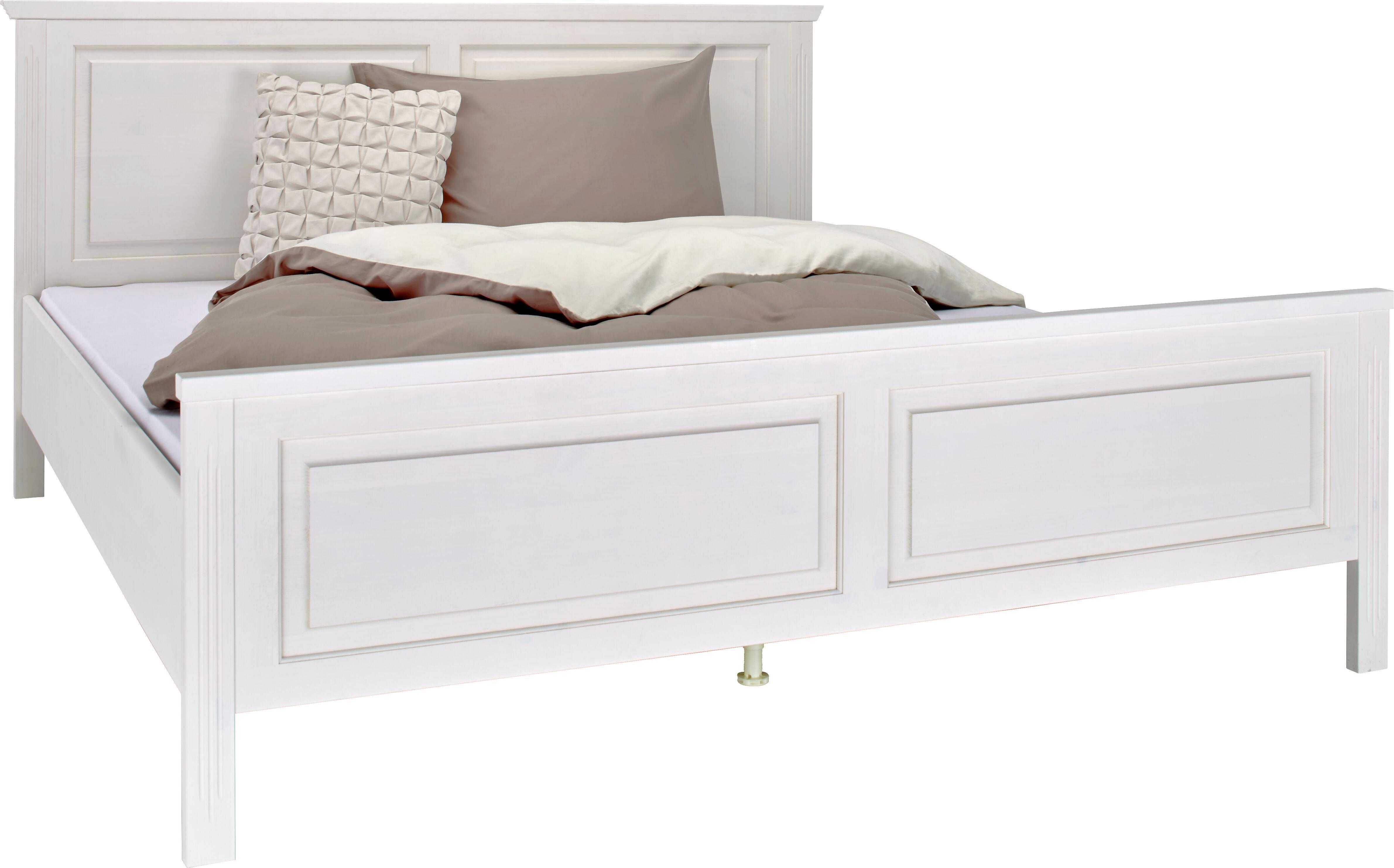 Hervorragend Bett Weiß 180x200cm   Weiß, ROMANTIK / LANDHAUS, Holz (210/190/