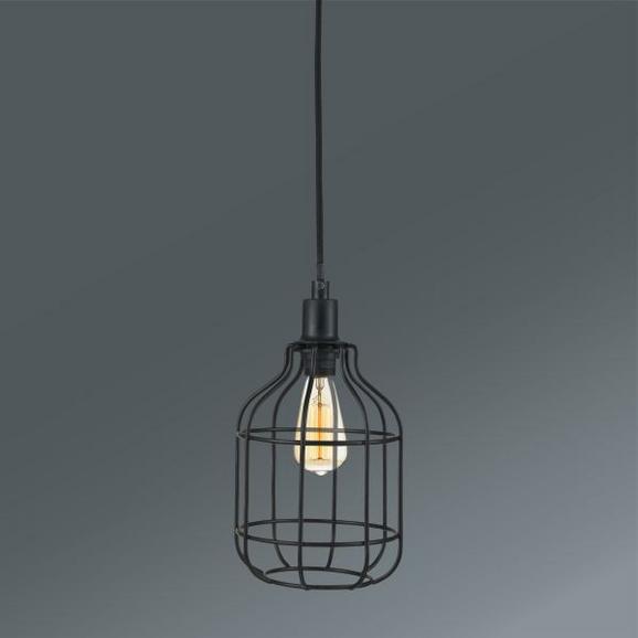Viseča Svetilka Skeletton - črna, Trendi, kovina (14/14/110cm) - Mömax modern living
