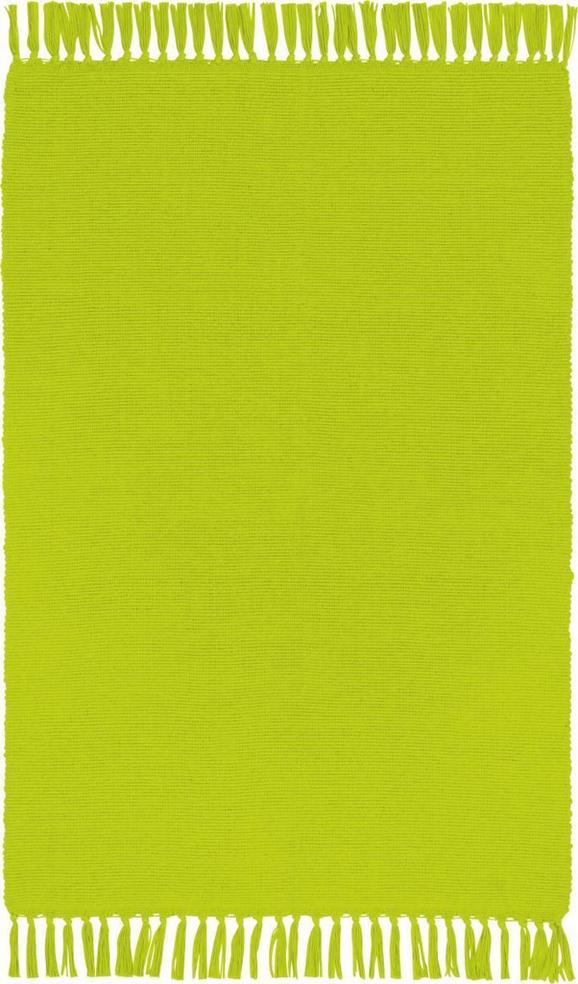 Fleckerlteppich Corner - Blau/Lila, KONVENTIONELL, Textil (50/80cm) - Based