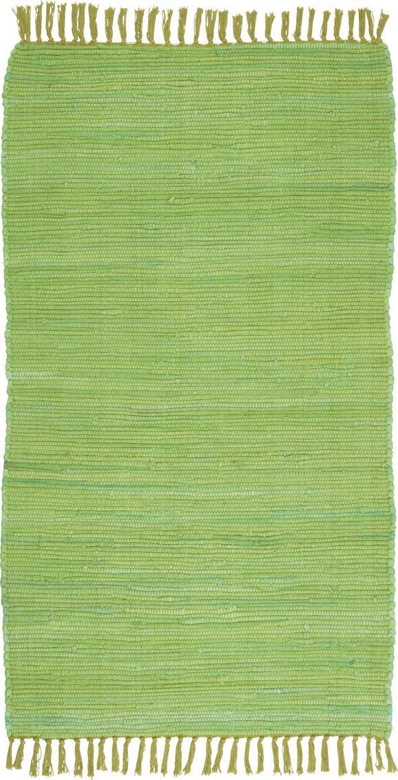 Fleckerlteppich Julia in Grün, ca. 70/130cm - Hellgrün, KONVENTIONELL, Textil (70/130cm) - MÖMAX modern living