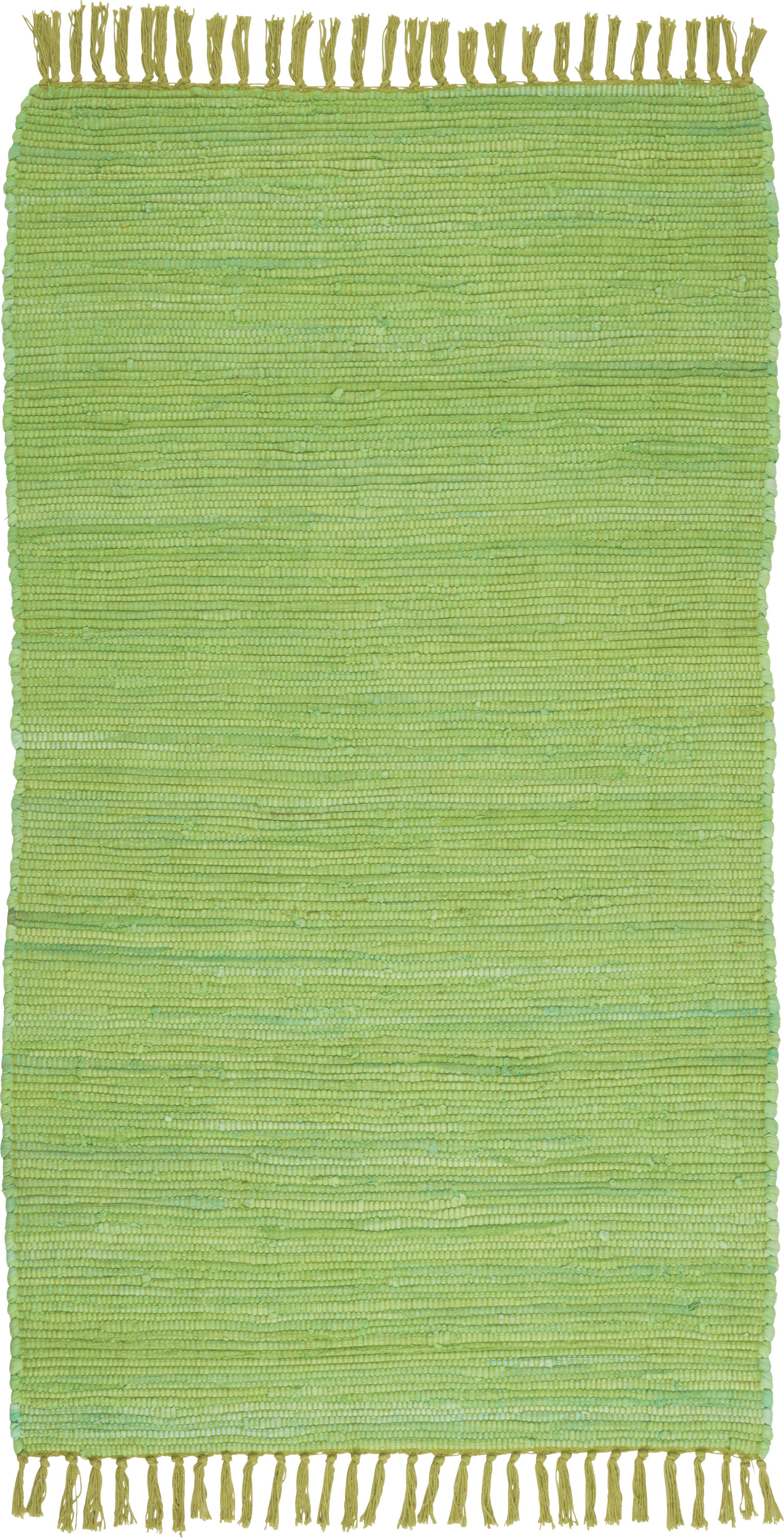 Rongyszőnyeg Julia - világoszöld, konvencionális, textil (70/130cm) - MÖMAX modern living