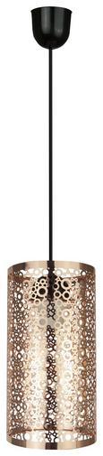 Hängeleuchte Rosa, max. 1x40 Watt - Schwarz/Kupferfarben, LIFESTYLE, Metall (25/13/130cm) - Mömax modern living