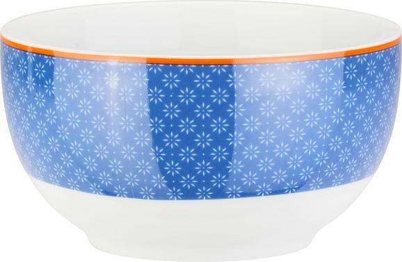 Müslischale Sahara in Blau aus Porzellan - Blau/Orange, LIFESTYLE, Keramik (14cm) - MÖMAX modern living