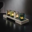 Teelichthalter Rory inkl. Gläser ca. 34/11cm - Multicolor/Naturfarben, MODERN, Glas/Holz (34/11/9cm) - Mömax modern living