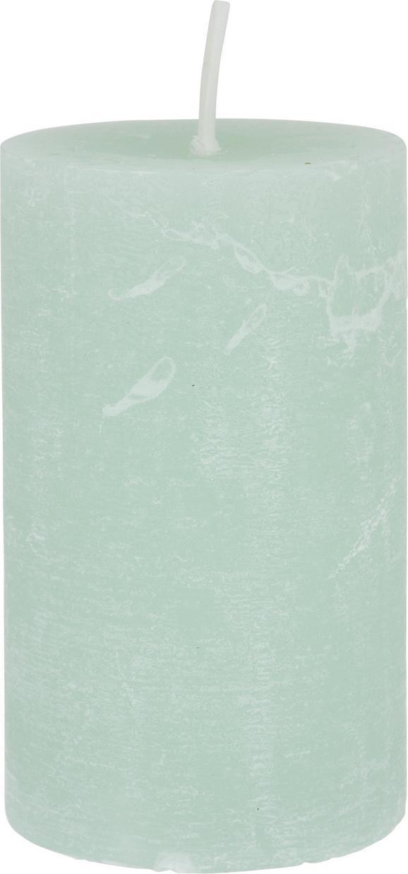 Stumpenkerze Lia Hellgrün - Hellgrün, MODERN (6,8/12cm) - Mömax modern living
