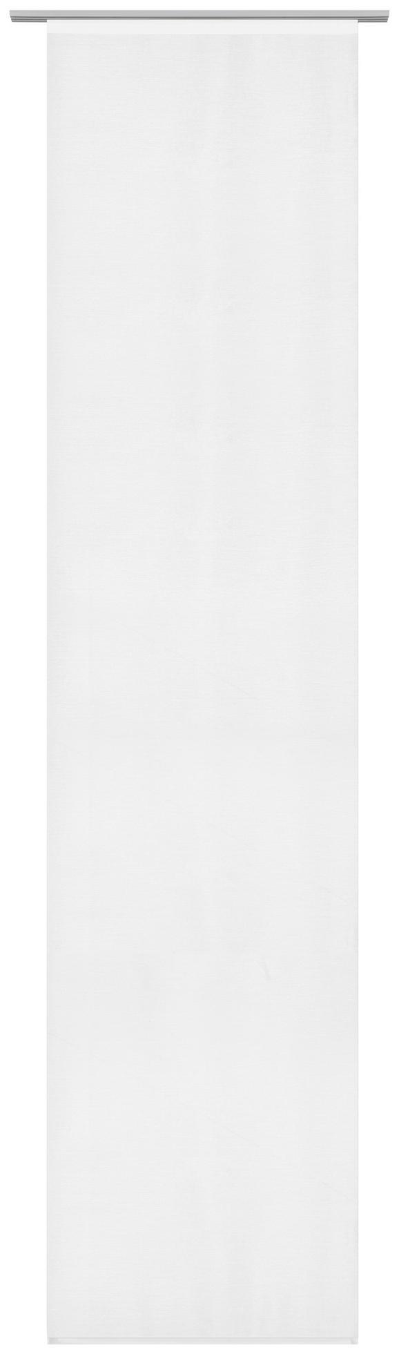 Flächenvorhang Uni in Weiß, ca. 60x245cm - Weiß, MODERN, Textil (60/245cm) - MÖMAX modern living