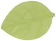 Pogrinjek Leaf - siva/bela, ostali naravni materiali (33/50cm)