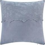 Kissen in Blau/Grau 'Pia' ca. 50x50cm - Blau/Grau, ROMANTIK / LANDHAUS, Textil (50/50cm) - Bessagi Home