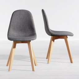 Stuhl Joelyna - Grau, MODERN, Holz/Textil (44/88/52cm) - MODERN LIVING