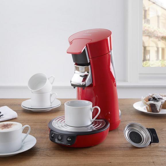 Kaffeepadmaschine Senseo Viva Cafe - Rot, MODERN, Kunststoff/Metall - Philips