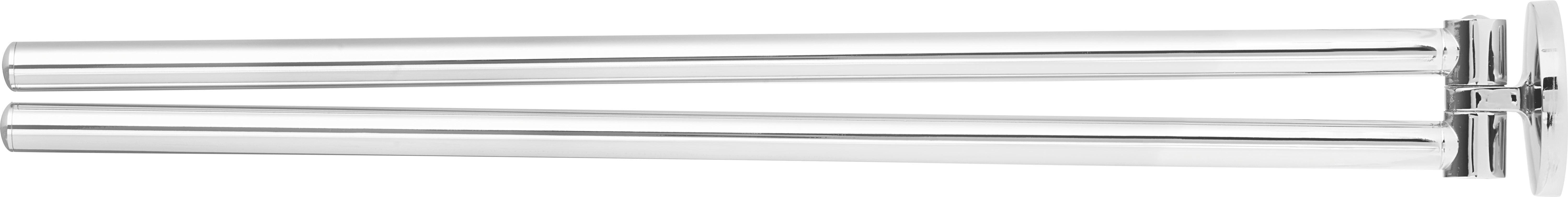 Handtuchhalter in Chromfarben - Chromfarben, Metall (6/6/48cm) - MÖMAX modern living
