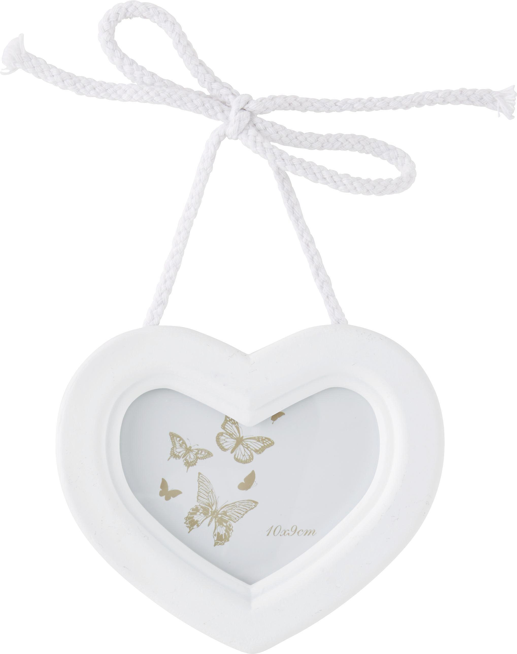 Bilderrahmen Sweety in Weiß - Weiß, ROMANTIK / LANDHAUS, Holzwerkstoff (15/15/2cm) - MÖMAX modern living