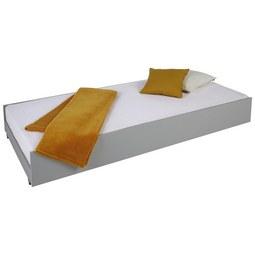 Bettschubkasten in Weiß, 2er Set - Hellgrau/Weiß, Holzwerkstoff/Kunststoff (94/27/199cm) - Modern Living