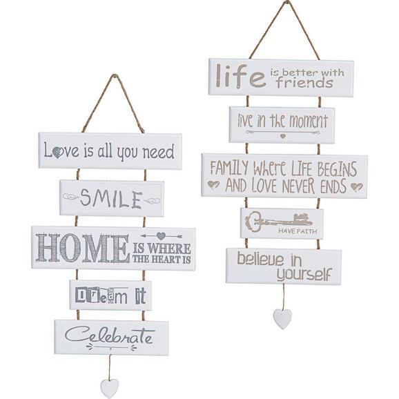 Decorațiuni De Perete Home - alb, Lifestyle, lemn (30/48cm) - Modern Living