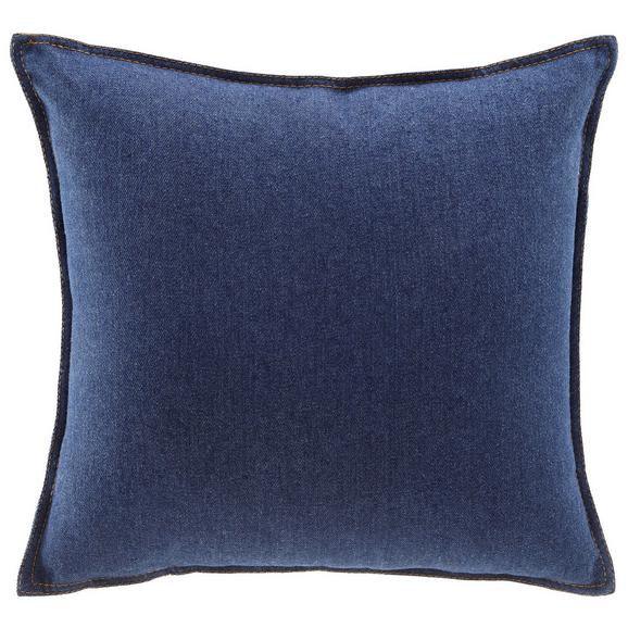 Kissen in Dunkelblau 'Tessa' ca. 40x40cm - Dunkelblau, MODERN, Textil (40/40cm) - Bessagi Home