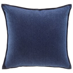 Kissen Tessa 40x40cm - Dunkelblau, MODERN, Textil (40/40cm) - Modern Living