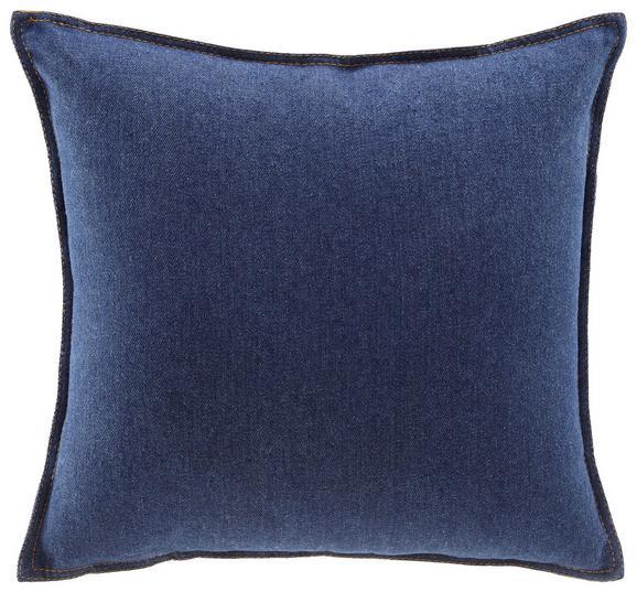 Kissen Tessa ca.40x40cm in Dunkelblau - Dunkelblau, MODERN, Textil (40/40cm) - Modern Living