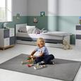 Kinderkommode in Weiß/ Hellgrau 'Brian' - Hellgrau/Weiß, MODERN, Holz/Metall (70/80/39cm) - Bessagi Kids