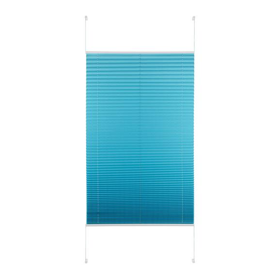 Plissee Free in Petrol ca. 90x210cm - Petrol, Textil (90/210cm) - Premium Living