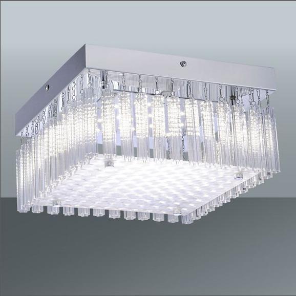 LED-Deckenleuchte Lea, max. 12 Watt - Chromfarben, KONVENTIONELL, Metall (25/25/13,2cm) - MÖMAX modern living