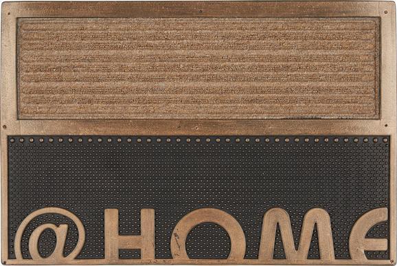 Fußmatte Home Kupfer, ca. 40x60cm - Kupferfarben, Kunststoff (40 60 cm) - Based