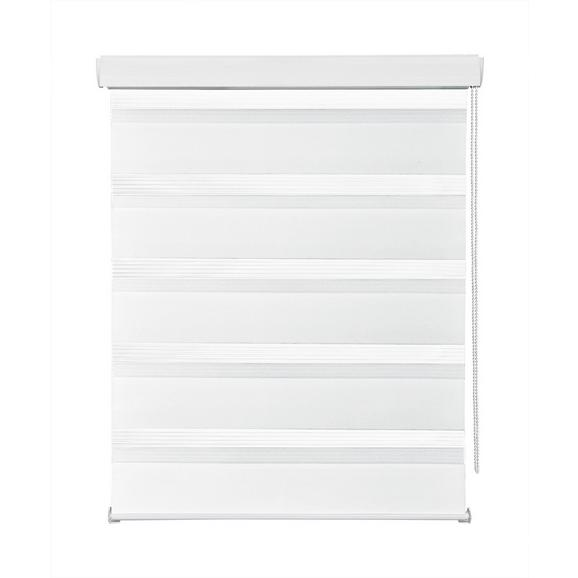 Rulou Zebră Thomas - alb, plastic/textil (140/160cm) - Premium Living