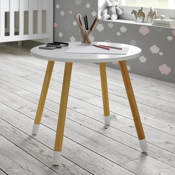 Kindertisch in Weiß/ Pinienfarben 'Leni' - Weiß/Pinienfarben, MODERN, Holz (55,9/49,5cm) - Bessagi Kids