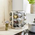 Carusel De Condimente Diana - culoare inox, sticlă/metal (17/19,8cm)