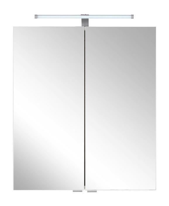 Spiegelschrank ca. 60x71x20cm inkl. Led - Weiß, Holzwerkstoff/Metall (60/71/20cm) - MÖMAX modern living