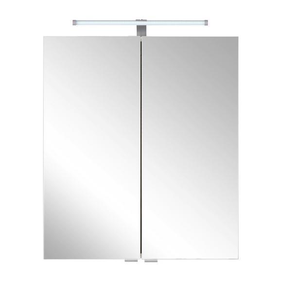 Spiegelschrank Weiß - Weiß, Holzwerkstoff/Metall (60/71/20cm) - Mömax modern living
