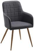 Stuhl Jule - Grau, MODERN, Textil/Metall (57/92,5/46cm) - Modern Living