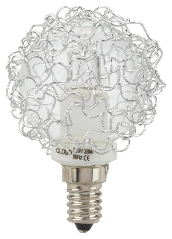 Leuchtmittel Anja - Klar/Alufarben, KONVENTIONELL (7cm)