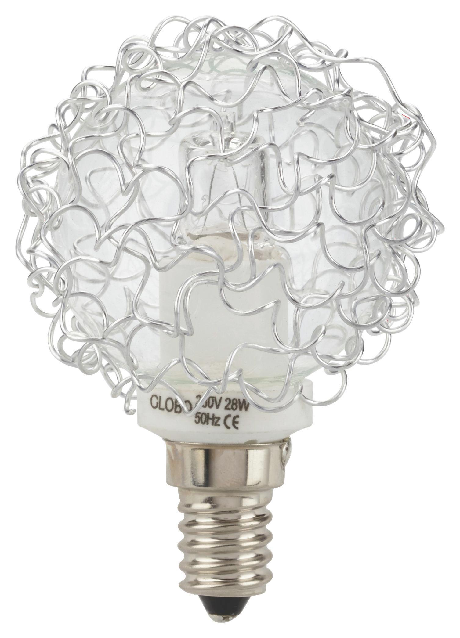 Leuchtmittel Anja - Klar/Alufarben (7cm)