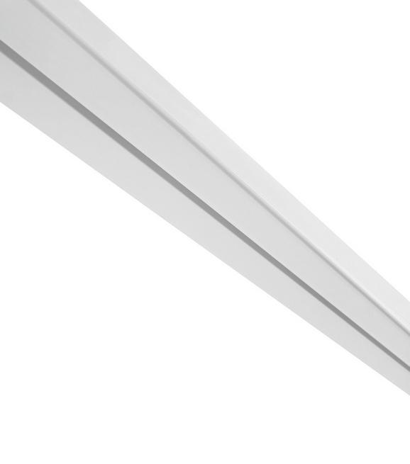 Vorhangschiene Amelie in Weiß, ca. 250cm - Weiß, Kunststoff (250/4.8/1.7cm) - Mömax modern living