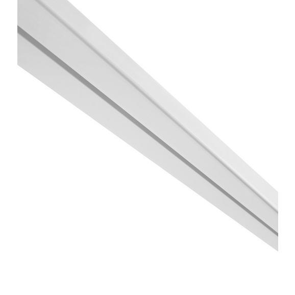 Vorhangschiene Amelie Weiß, ca. 120cm - Weiß, Kunststoff (120/4.8/1.7cm) - Mömax modern living