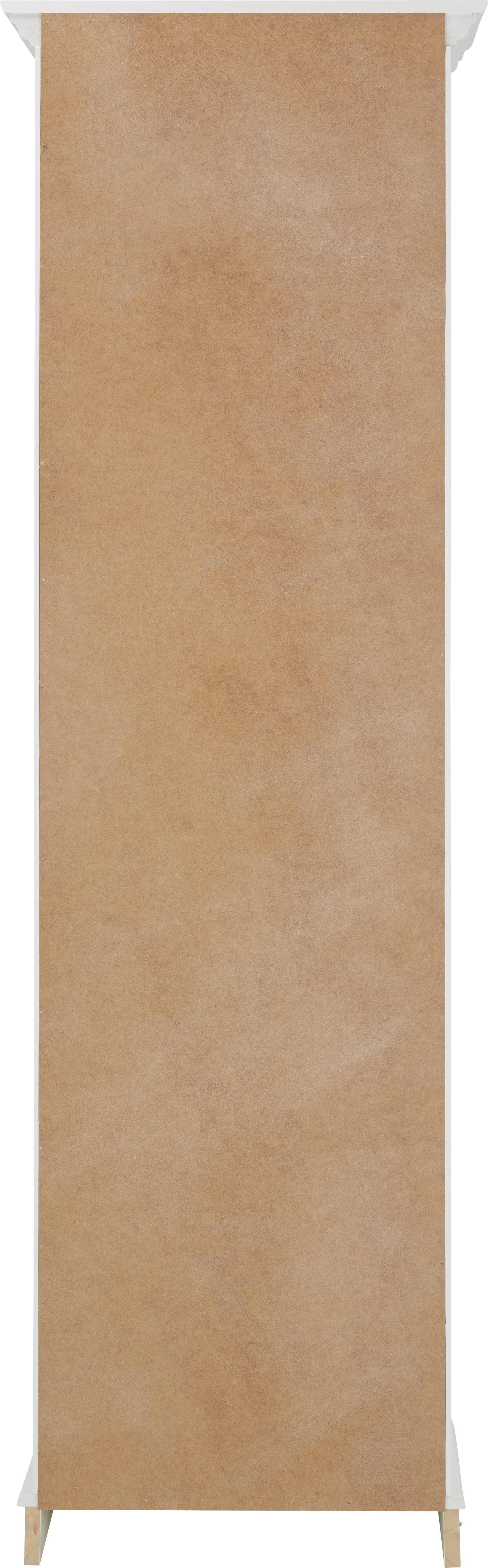 Vitrine Claudia - Weiß, Glas/Holz (59,5/190/44,5cm) - PREMIUM LIVING