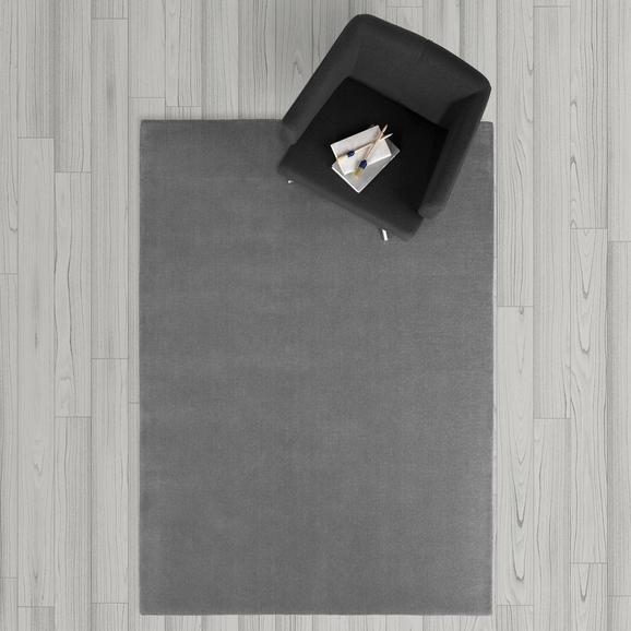 Teppich Carolin Handgewebt ca.140x200cm - Grau, MODERN, Textil (140/200cm) - Bessagi Home