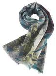 Wollpashmina Schal Shalimar 70x180 cm - Blau, MODERN, Textil (70/180cm) - Premium Living