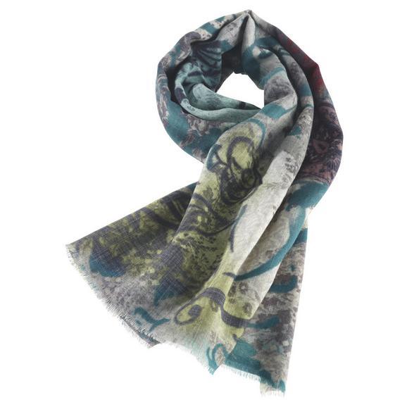 Wollpashmina Schal Shalimar ca. 70x180 cm - Blau, MODERN, Textil (70/180cm) - Premium Living